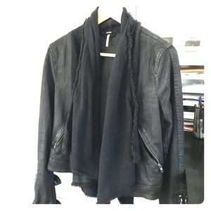 Free People black Moto-style jacket